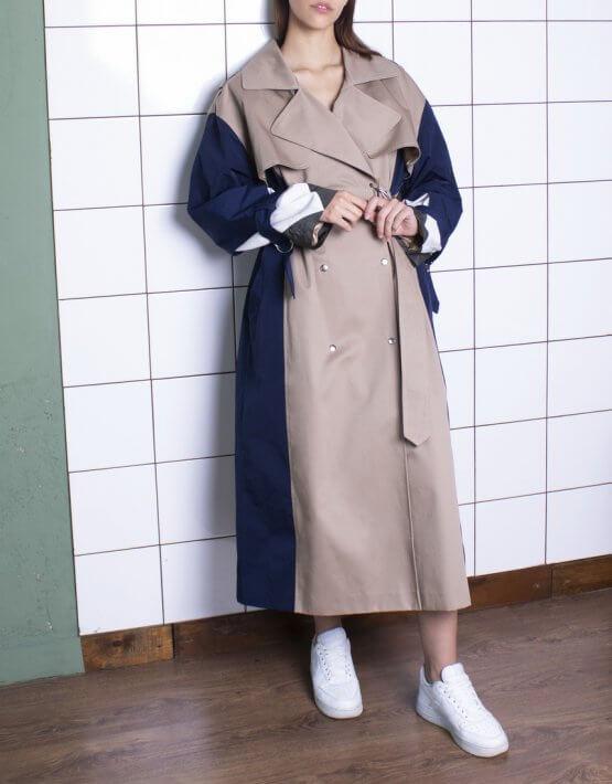 Тренч oversize с объемными рукавами BEAVR_BA_SS20_78, фото 4 - в интеренет магазине KAPSULA