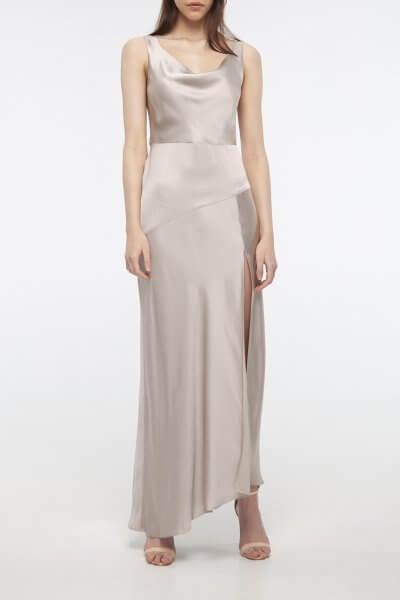 Платье с разрезом на шелковом подкладе BEAVR_BA_SS20_72, фото 4 - в интеренет магазине KAPSULA