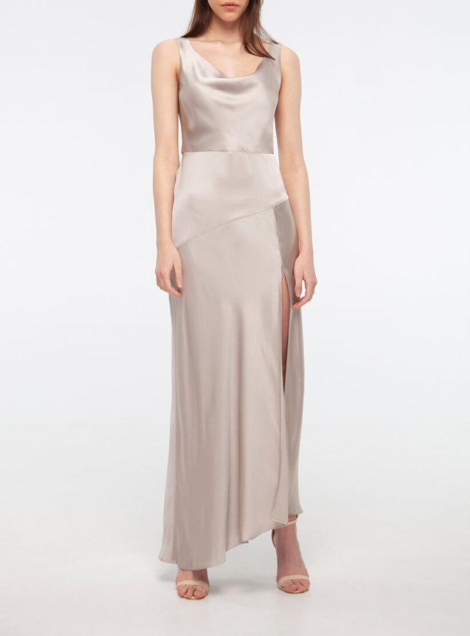 Платье с разрезом на шелковом подкладе BEAVR_BA_SS20_72, фото 1 - в интернет магазине KAPSULA