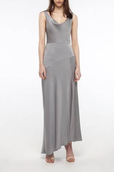 Платье с разрезом на шелковом подкладе BEAVR_BA_SS20_73, фото 1 - в интеренет магазине KAPSULA
