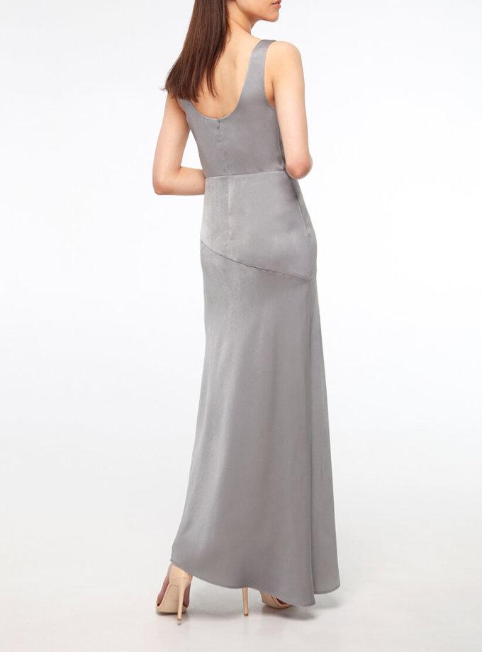 Платье с разрезом на шелковом подкладе BEAVR_BA_SS20_73, фото 1 - в интернет магазине KAPSULA