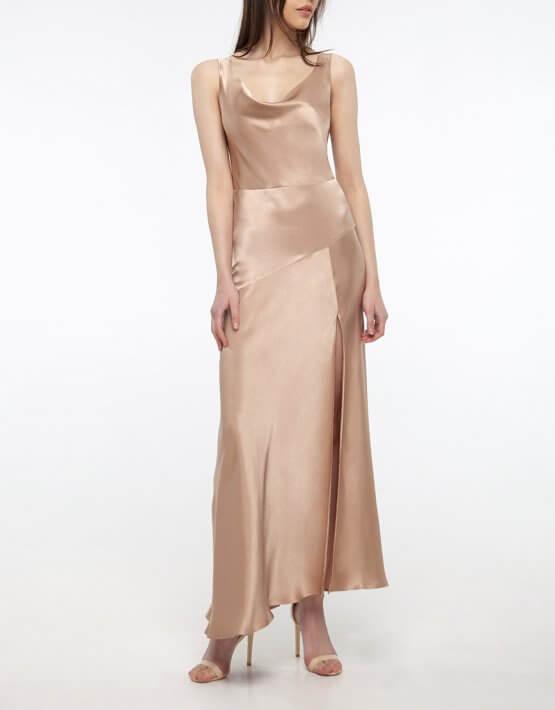 Платье с разрезом на шелковом подкладе BEAVR_BA_SS20_75, фото 3 - в интеренет магазине KAPSULA