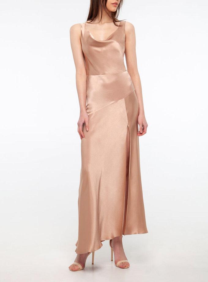 Платье с разрезом на шелковом подкладе BEAVR_BA_SS20_75, фото 1 - в интернет магазине KAPSULA