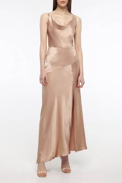 Платье с разрезом на шелковом подкладе BEAVR_BA_SS20_75, фото 1 - в интеренет магазине KAPSULA