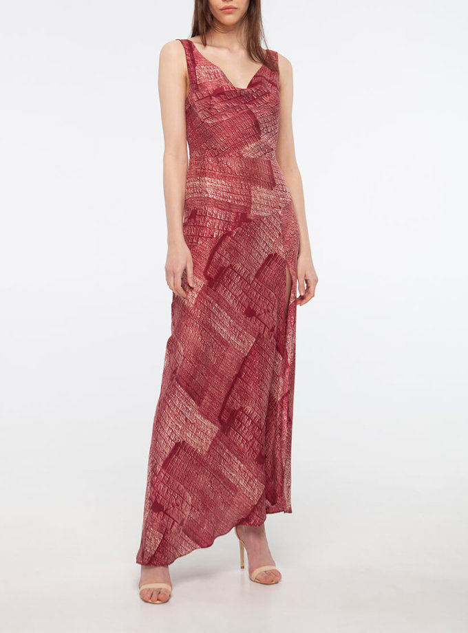 Шелковое платье с разрезом BEAVR_BA_SS20_76, фото 1 - в интернет магазине KAPSULA