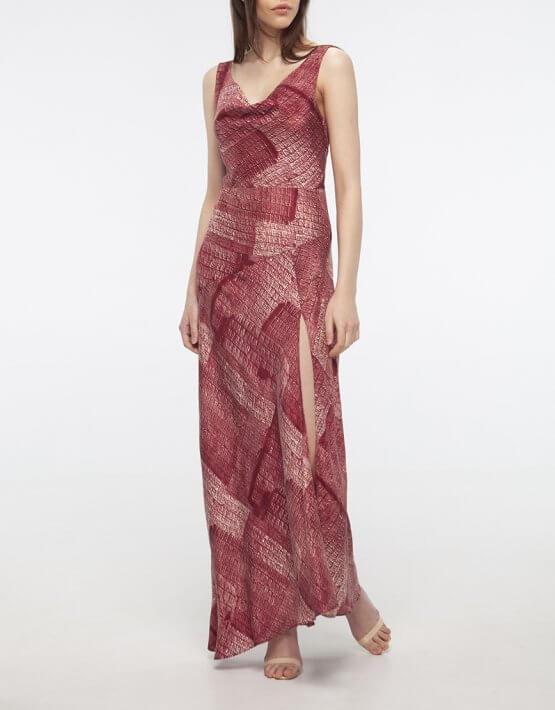 Шелковое платье с разрезом BEAVR_BA_SS20_76, фото 5 - в интеренет магазине KAPSULA