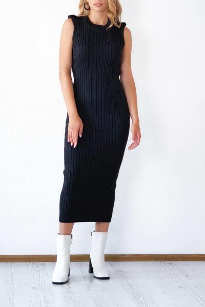 Трикотажное платье из хлопка CHMSP_CS_18291, фото 1 - в интеренет магазине KAPSULA