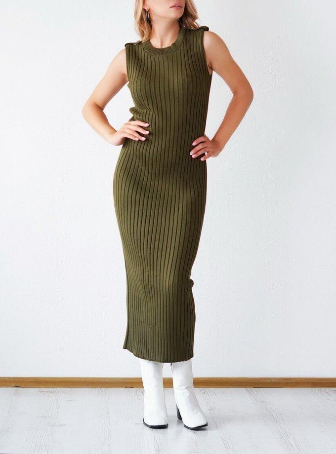 Трикотажное платье из хлопка CHMSP_CS_18292, фото 1 - в интернет магазине KAPSULA