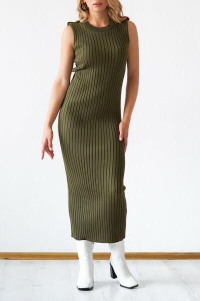 Трикотажное платье из хлопка CHMSP_CS_18292, фото 1 - в интеренет магазине KAPSULA
