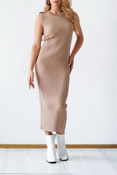 Трикотажное платье из хлопка CHMSP_CS_18293, фото 1 - в интеренет магазине KAPSULA