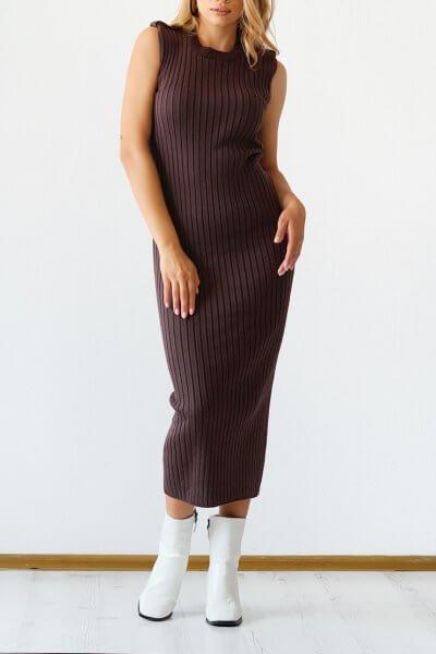 Трикотажное платье из хлопка CHMSP_CS_18294, фото 2 - в интеренет магазине KAPSULA