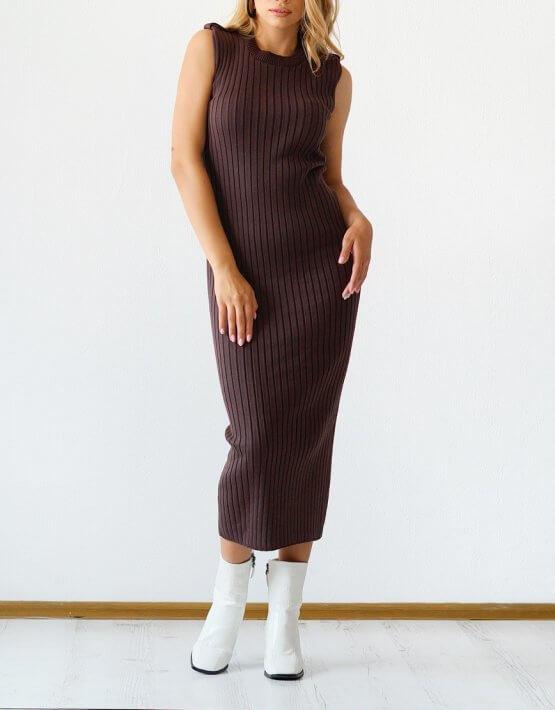 Трикотажное платье из хлопка CHMSP_CS_18294, фото 4 - в интеренет магазине KAPSULA