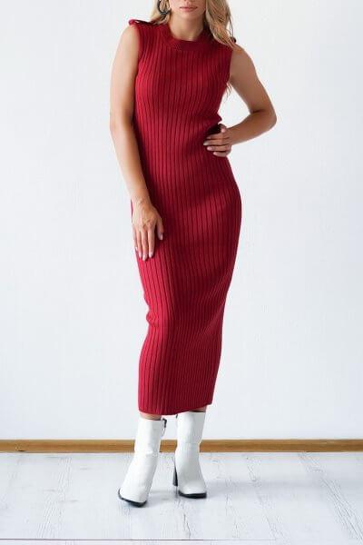 Трикотажное платье из хлопка CHMSP_CS_18295, фото 1 - в интеренет магазине KAPSULA