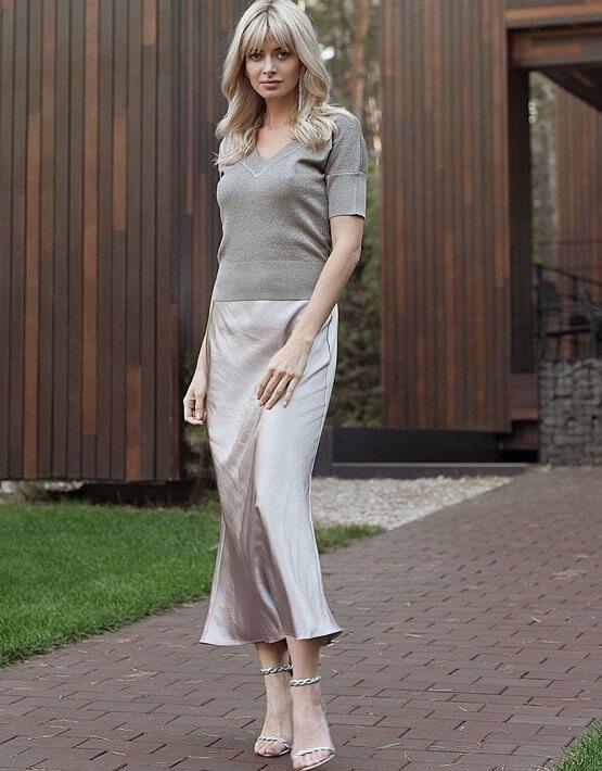 Сатиновая юбка Violet WNDR_fw2021_sslil_13, фото 5 - в интеренет магазине KAPSULA
