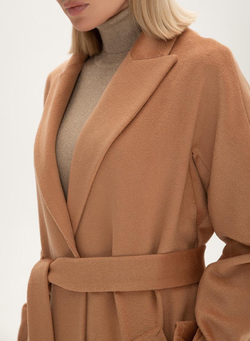 Пальто из кашемира с поясом Bronze WNDR_Fw1920_cshb_11_bronze, фото 1 - в интернет магазине KAPSULA