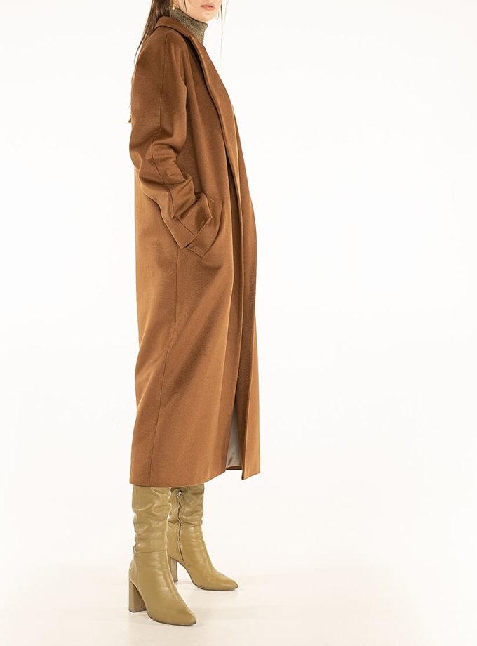 Пальто из кашемира с поясом Brown WNDR_ Fw1920_cshbr_11, фото 1 - в интернет магазине KAPSULA