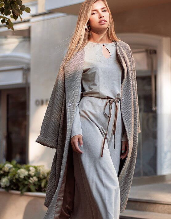 Легкое платье миди AY_3018, фото 5 - в интеренет магазине KAPSULA