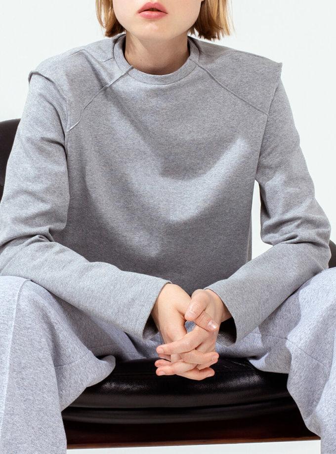 Хлопковый лонгслив с вышивкой IRRO_IR_FW20_LG_015, фото 1 - в интеренет магазине KAPSULA