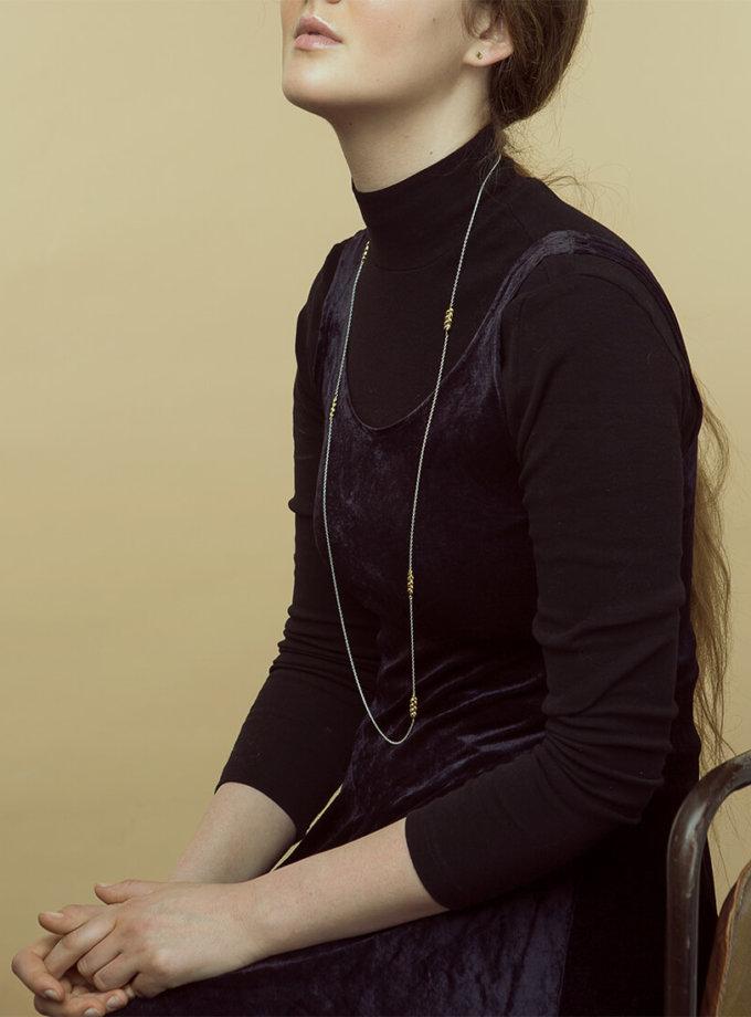 Длинное серебряное колье Колоски KVL_КРР16, фото 1 - в интеренет магазине KAPSULA
