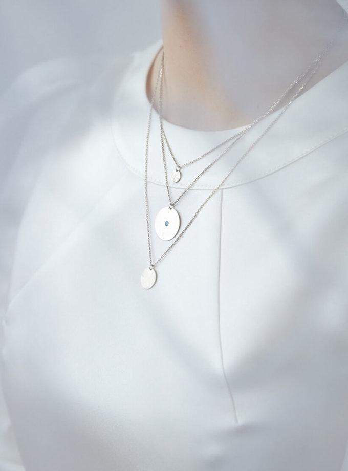 Многослойная цепочка из серебра с топазом LGV_dot001, фото 1 - в интернет магазине KAPSULA