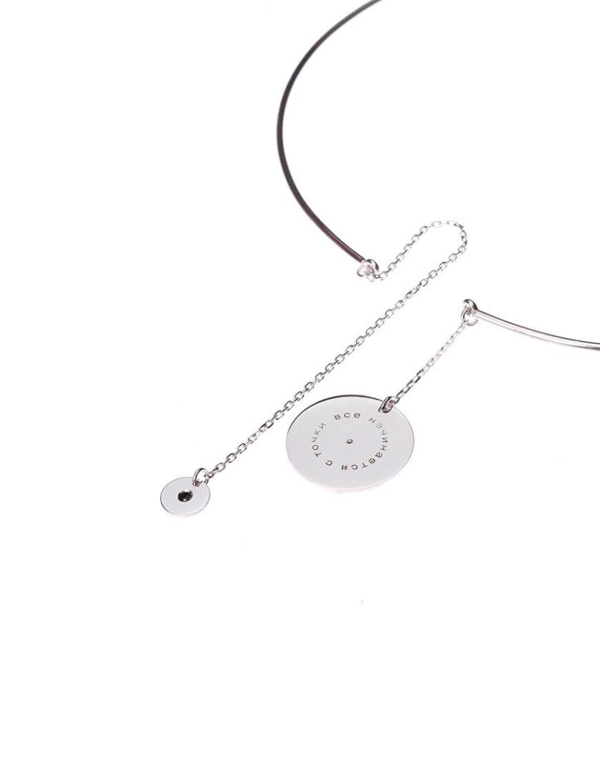 Серебряный чокер с камнем LGV_dot002, фото 1 - в интеренет магазине KAPSULA