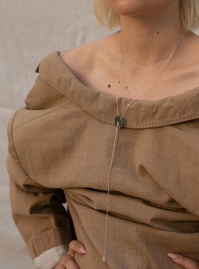 Колье-галстук из серебра LGV_dot003, фото 1 - в интернет магазине KAPSULA