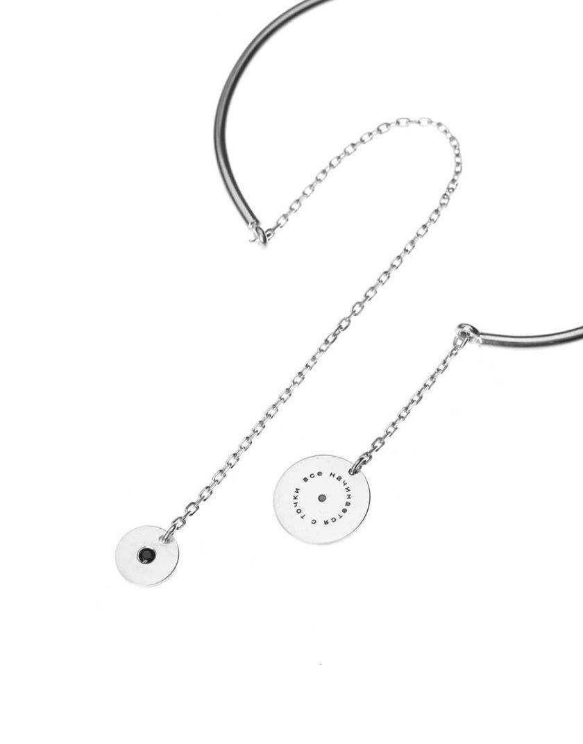 Серебряный браслет с подвеской LGV_dot010, фото 1 - в интернет магазине KAPSULA