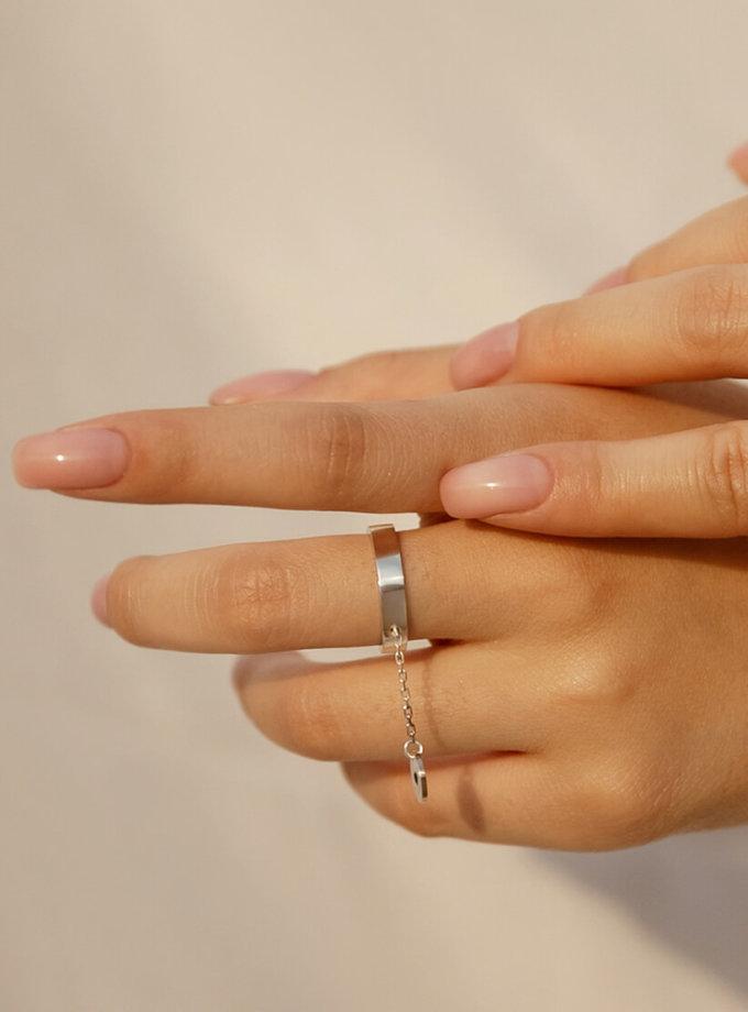 Серебряное кольцо с подвеской LGV_dot011, фото 1 - в интеренет магазине KAPSULA