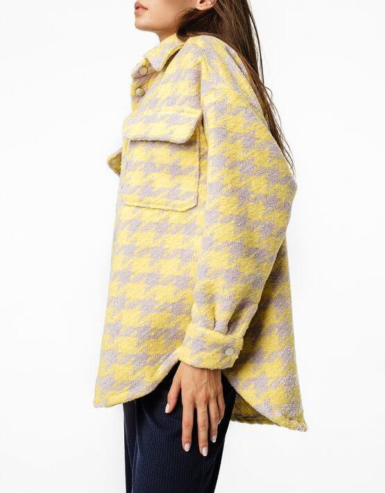Куртка-рубашка oversize из шерсти MGN_1403ZH, фото 4 - в интеренет магазине KAPSULA