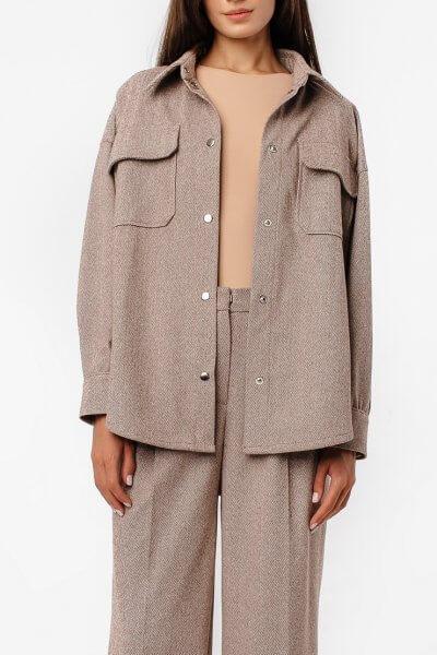 Тёплая рубашка oversize MGN_2103K, фото 1 - в интеренет магазине KAPSULA