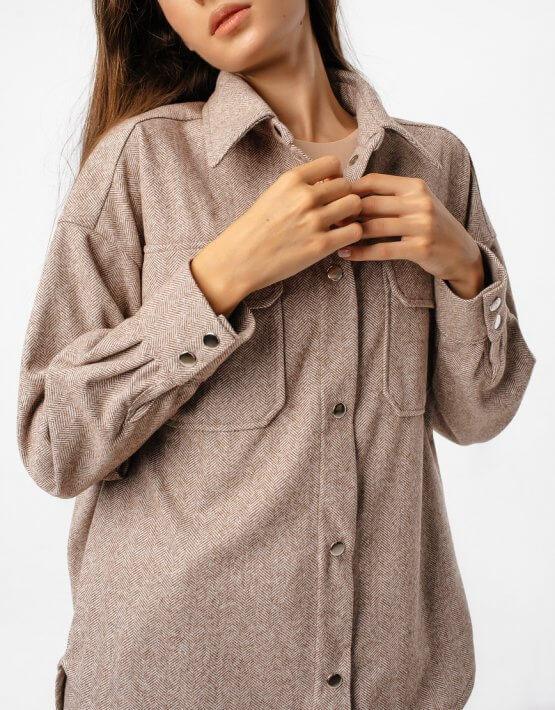 Тёплая рубашка oversize MGN_2103K, фото 5 - в интеренет магазине KAPSULA