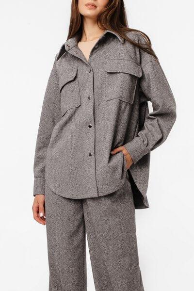 Тёплая рубашка oversize MGN_2103S, фото 1 - в интеренет магазине KAPSULA