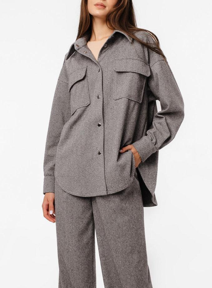 Тёплая рубашка oversize MGN_2103S, фото 1 - в интернет магазине KAPSULA