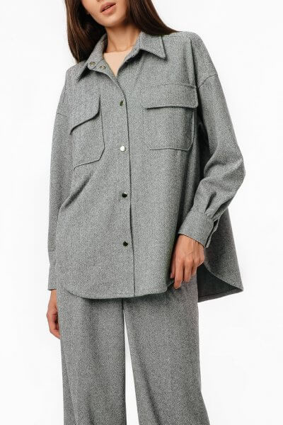 Тёплая рубашка oversize MGN_2103Z, фото 1 - в интеренет магазине KAPSULA