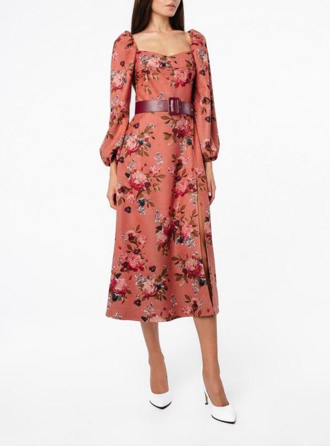 Платье миди с поясом MGN_2604P, фото 1 - в интеренет магазине KAPSULA