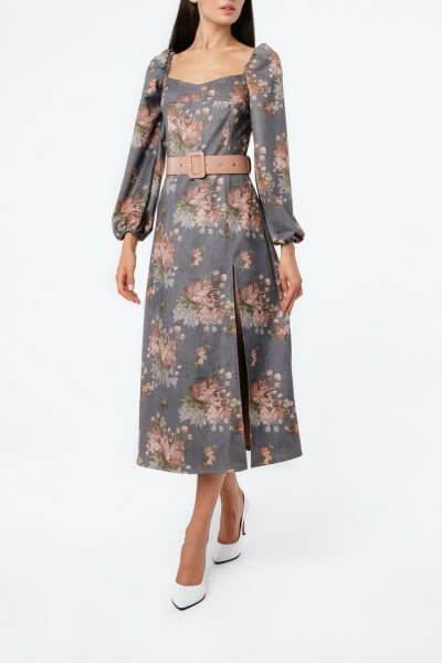 Платье миди с поясом MGN_2604S, фото 4 - в интеренет магазине KAPSULA