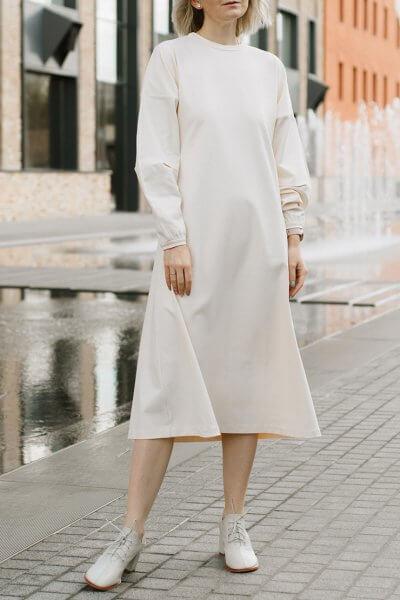 Платье свободного кроя MNTK_MTF208, фото 5 - в интеренет магазине KAPSULA