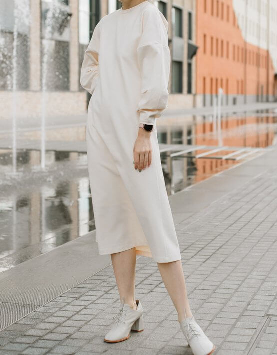 Платье свободного кроя MNTK_MTF208, фото 6 - в интеренет магазине KAPSULA