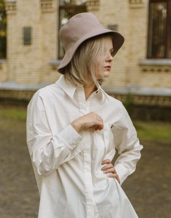 Теплая шляпа на подкладе MNTK_MTH07, фото 2 - в интеренет магазине KAPSULA