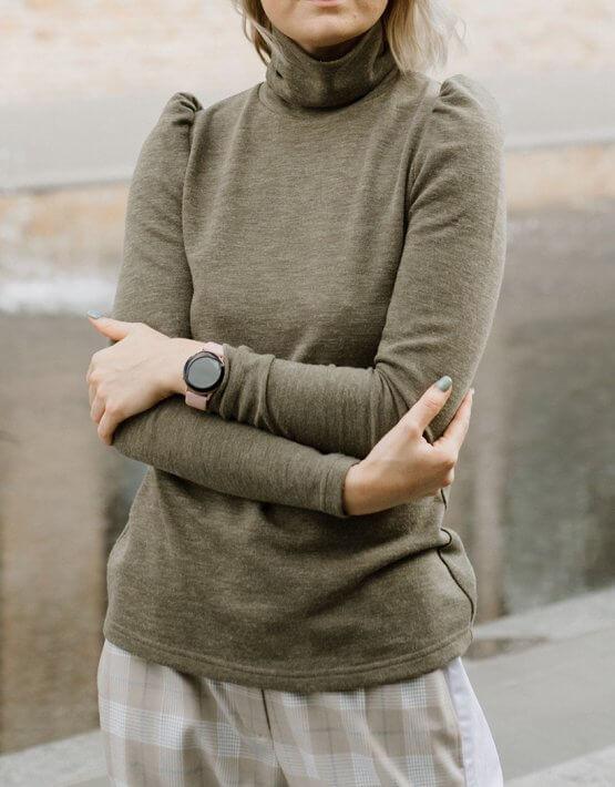 Гольф с объемными плечами MNTK_MTSF203, фото 6 - в интеренет магазине KAPSULA