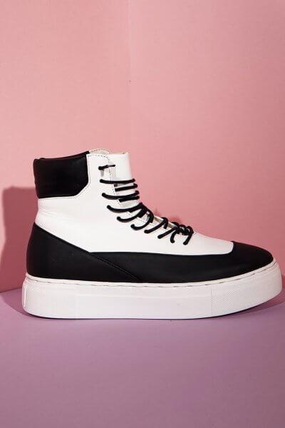Высокие кроссовки из кожи CLS_CFW20HTBW, фото 5 - в интеренет магазине KAPSULA