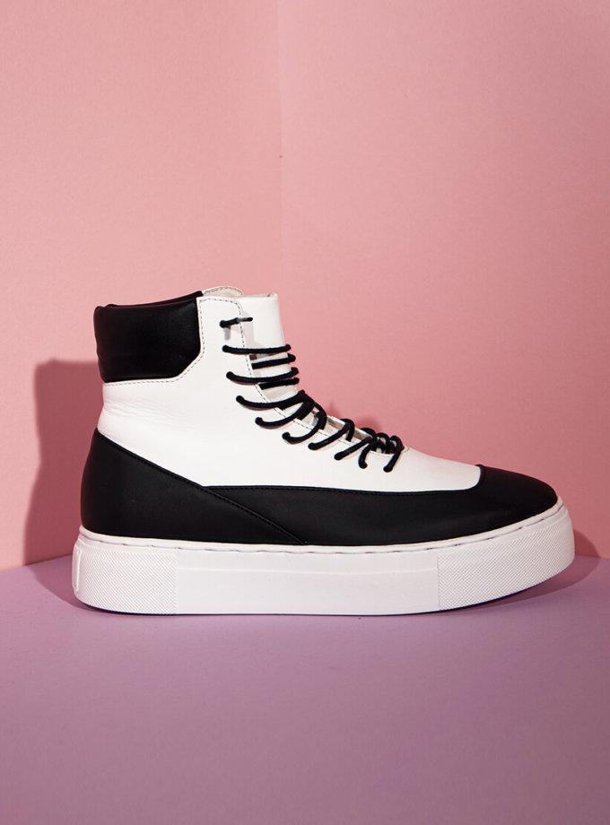 Высокие кроссовки из кожи CLS_CFW20HTBW, фото 1 - в интеренет магазине KAPSULA