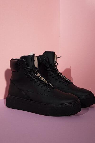 Высокие кроссовки из кожи CLS_CFW20HTB, фото 4 - в интеренет магазине KAPSULA