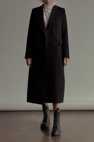 Двубортное пальто из шерсти NM_283, фото 1 - в интеренет магазине KAPSULA