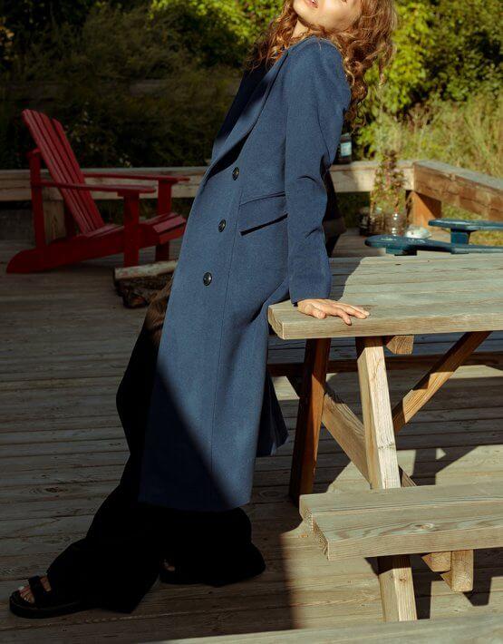 Двубортное пальто из шерсти NM_353, фото 4 - в интеренет магазине KAPSULA