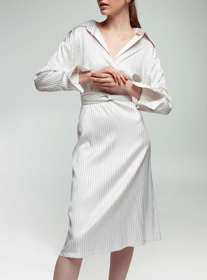 Платье из хлопка в полоску NM_361, фото 1 - в интеренет магазине KAPSULA