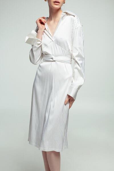 Платье из хлопка в полоску NM_361, фото 5 - в интеренет магазине KAPSULA