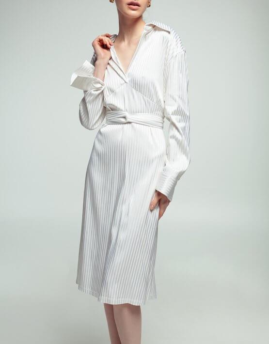 Платье из хлопка в полоску NM_361, фото 2 - в интеренет магазине KAPSULA
