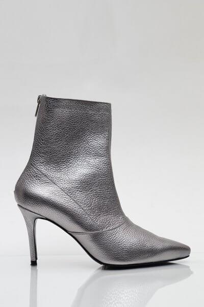 Кожаные ботинки на каблуке NZR_Rainbow-darksilver, фото 5 - в интеренет магазине KAPSULA