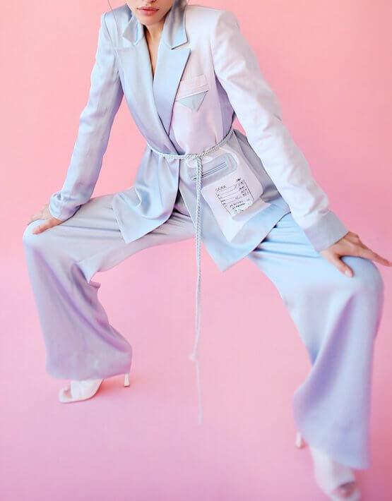 Костюм в пижамном стиле SAYYA_SS1030-1, фото 6 - в интеренет магазине KAPSULA